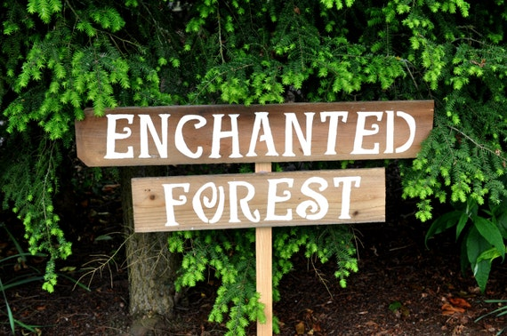 Rustic Wedding Signs Enchanted Forest Rustic Party Signs