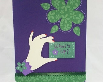 Handmade What's Up Card
