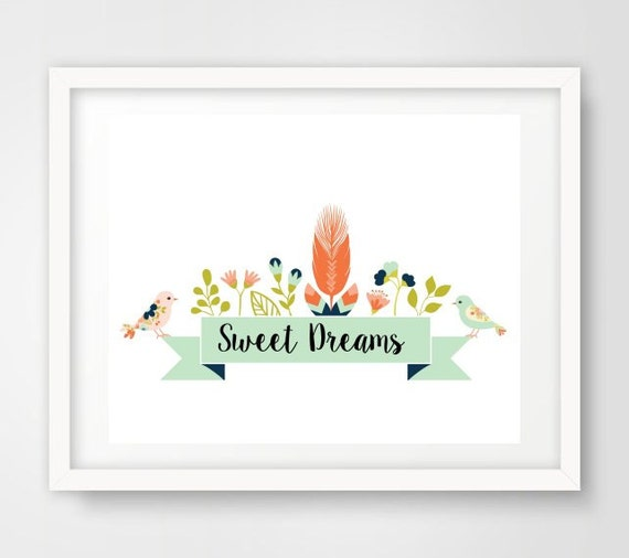 Wall Art Prints Download : Nursery art sweet dreams printable wall by