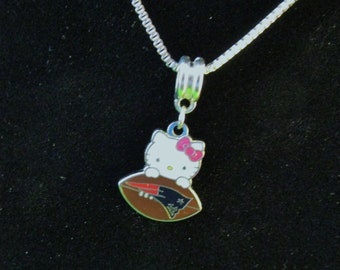 NEW ENGLAND PATRIOTS Hello Kitty 925 Sterling Silver Necklace