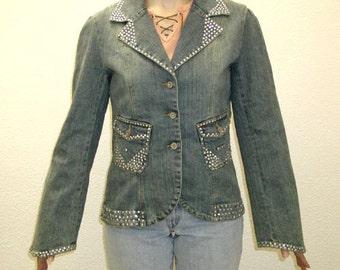 Lady Sophia Embellished Denim Jacket - Junior XL