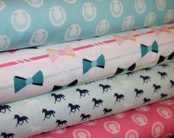 Derby Style fabric bundle by by Melissa Mortenson for Riley Blake Designs - 1/2 yard bundle - 4 total