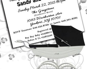 Black & White Baby Shower Invitation (Set of 25)