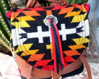 Handmade Southwestern Hybrid Backpack/purse
