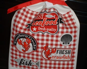 Seafood flour sack towels - FREE SHIPPING