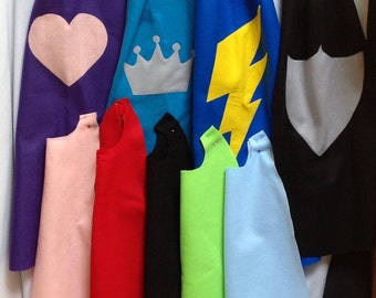 5 Felt Cape, Party pack of 5 felt capes any color, Super hero cape,