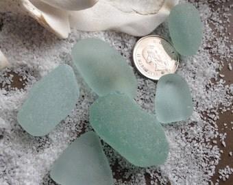 Six Seafoam Sea Glass Pieces.