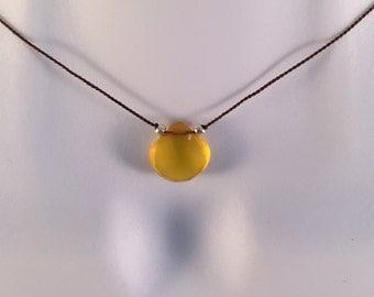 Yellow Chalcedony Necklace