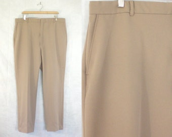 35%offJuly21-24 mens golf pants size 40x30, khaki brown pants, wrinkle free 70s pants, mens pants, mens trousers, man men