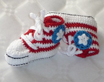 American Converse Booties 0-3mth