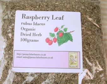 Organic dried raspberry leaf - rubus idaeus