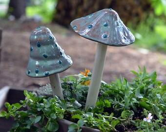 Typhoon Lagoon Mushroom.  Ceramic Mushroom.  Outdoor Decoration.  Garden Decor.