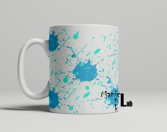 Blue Splatter Mug