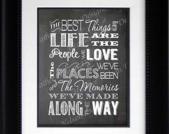Best Things in Life Wall Art Print- DIGITAL