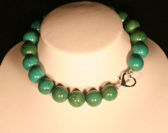 Turquoise green of Tibet and Silver 925 necklace