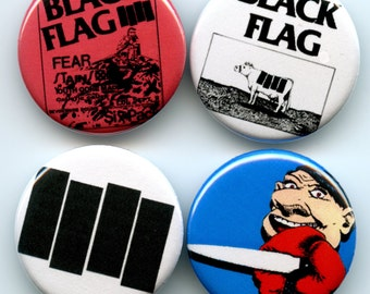 Black Flag 4 button pack
