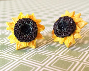 Bright and Sunny Sunflower Earrings