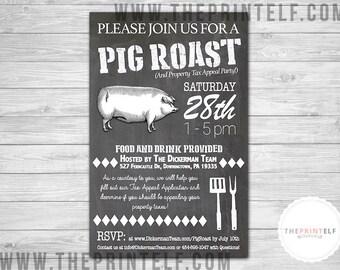 Pig Roast Barbecue Invitation
