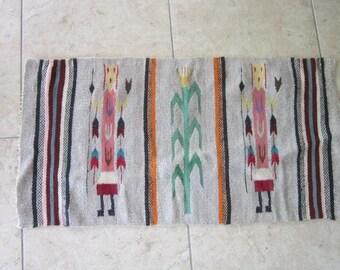 Old Native American Navajo Yei Rug