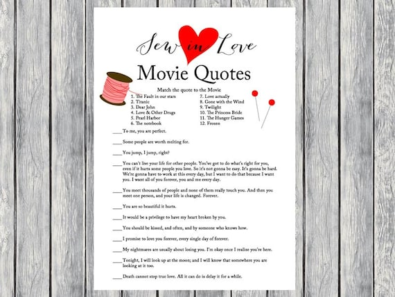 Quotes Quiz New Movie Quote Game Movie Quiz Famous Love Quote Game Sew In