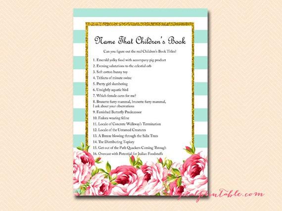 children 39 s book baby shower games printable baby shower activities