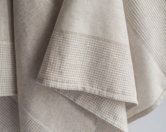"""OFF 2pc Waffle Hand Kitchen Guest Towel 17"""" x 37"""" (43 x 93 cm) Oatmeal Color"""