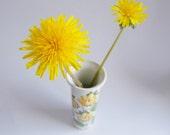 Vintage small vase, flower vase, ceramic vase, made in Britain, Portmeirion Botanic Garden