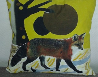 Fox in yellow background
