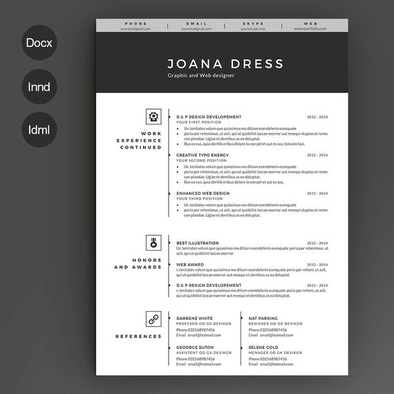 Stagehand Resume Examples: Resume Template 2 Pages