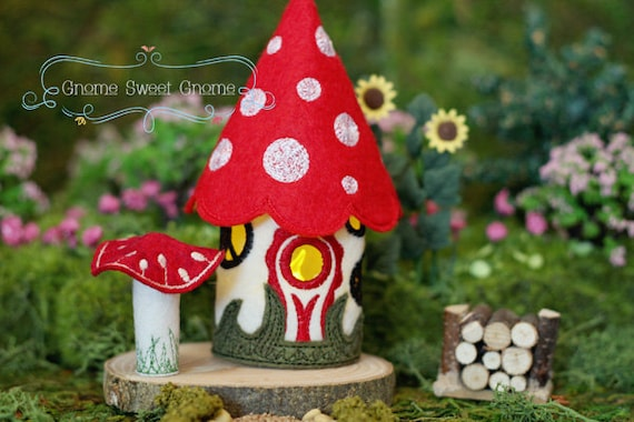 Toadstool Cottage Gnome Home Tealight