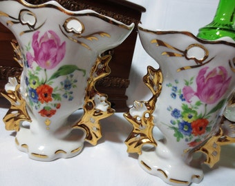 Vintage Floral Vase Etsy