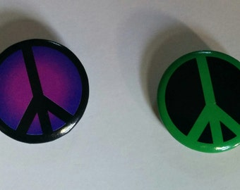 Peace Sign Button Pin