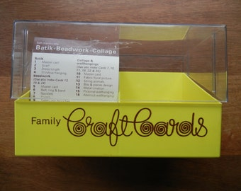 Family Craft Cards ~ 1975