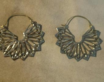 Indian brass earrings