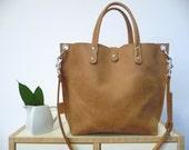 Leather bag, leather bag, leather bag, leather bag, leather bag, leather bag, leather bag, leather bag, Lou! Small leather shopper, camel!