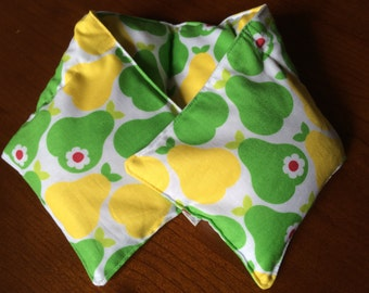 Microwavable Neck Wrap Hot/Cold Pack - Happy Pear - Handmade by A Very Sweet Life