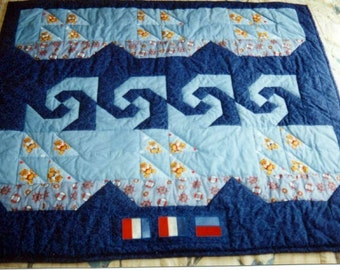 Sailboat & Waves quilt pattern