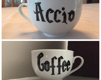 Harry Potter Mug, Oversized 20 oz Mug - Accio Coffee, Tea - Customizable
