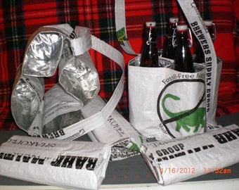 4 Pack - 4 Quart Craft Beer tote - 17 page Tutorial - 1st Edition