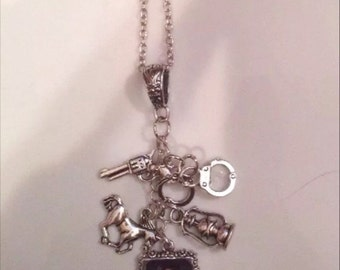 Sleepy Hollow Ichabod Crane charm necklace