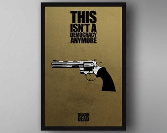 Rick Grimes Inspired. Quote. The Walking Dead. TV Show Poster. Wall Art.
