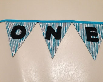 First birthday bunting - custom made
