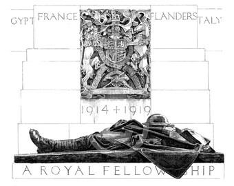 "Illustration of C.S. Jagger's ""Royal Artillery Memorial"" (1921-25), Hyde Park Corner, London."