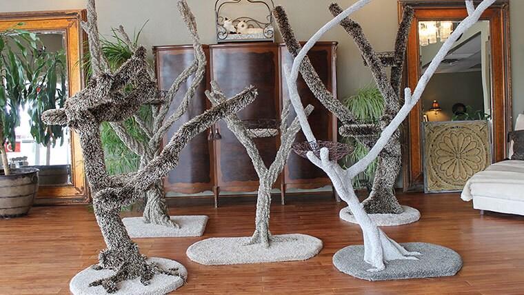 Custom reclaimed wood cat tree by kittygrovetrees on etsy for Wooden cat tree designs