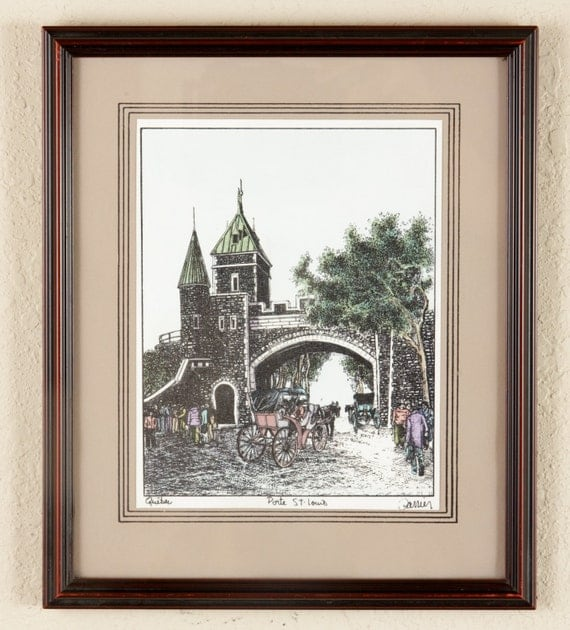 Porte st louis quebec affordable wall art by for Porte st louis quebec