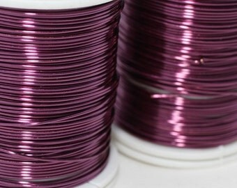 Violet Wire 18, 20, 22 and 28 Gauge Jewelry Wire, Wire Wrapping, Craft Wire, 16/28/60/155 Feet Artisan Wires