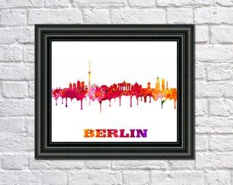 berlin skyline etsy. Black Bedroom Furniture Sets. Home Design Ideas