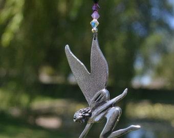 Swarovski Crystal Suncatcher, Fairy,  Car Charm, Rainbow Maker, Swarovski Crystal Ornament, Car Rearview Mirror Charm - FAIRY DUST -