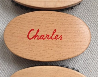 Personalized Military KENT Hairbrush for MEN & BOYS
