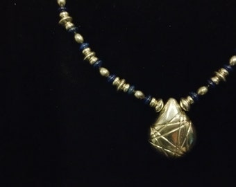 Sterling and Lapis Necklace
